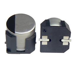 High-vibration surface-mount aluminium electrolytic