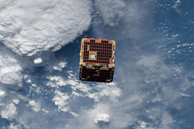cubesat orbiting earth