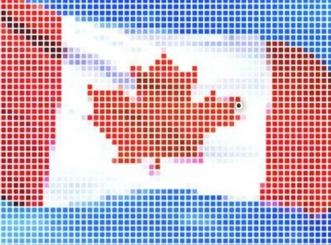 Vector - Canada flag-Pixel series