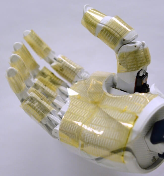 robotic hand and artificial skin