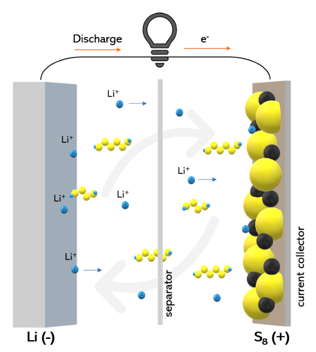 lithium-sulfur battery and shuttle effect