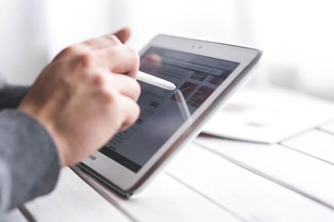 touchscreen tablet
