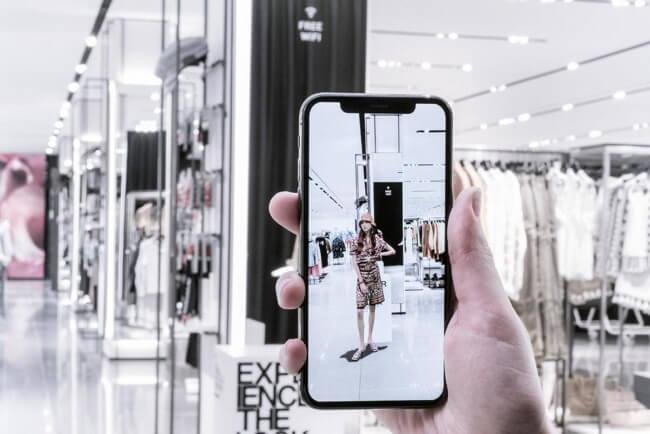 zara sugmented reality app
